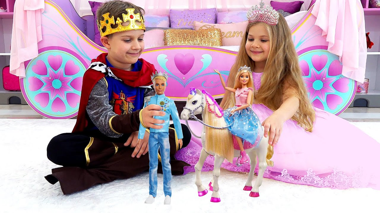 Download Diana and Roma play with Barbie Toys from Barbie Princess Adventure