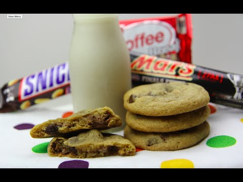 CANDY BAR COOKIES - CookingwithKarma