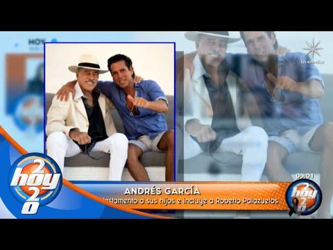 Andrés García no incluye a sus hijos en su testamento, pero sí a Roberto Palazuelos | Hoy