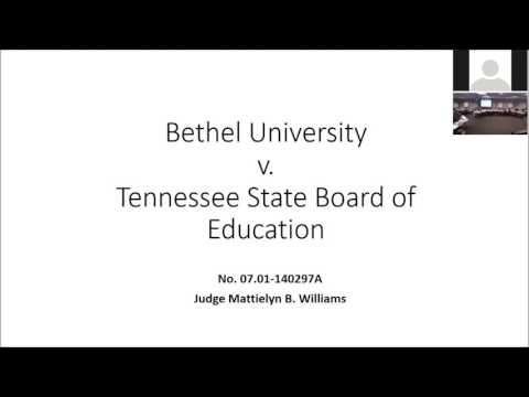 2017 01 25 Bethel University Petition for Declaratory Order