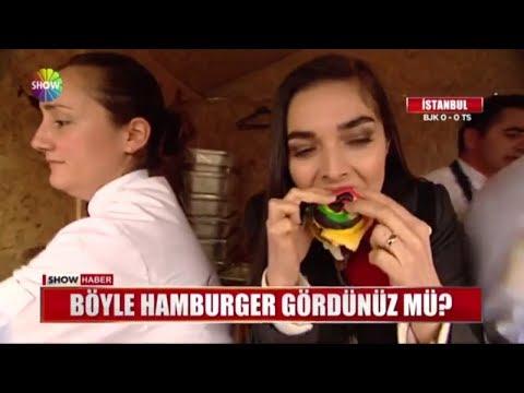 Böyle Hamburger Gördünüz Mü?