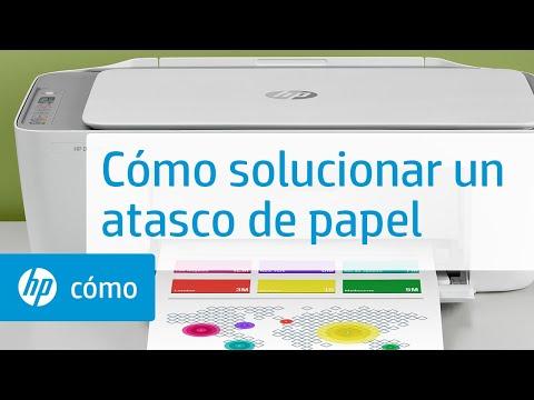 Cómo solucionar un atasco de papel | Impresoras HP DeskJet 2700 y DeskJet Plus 4100 | HP