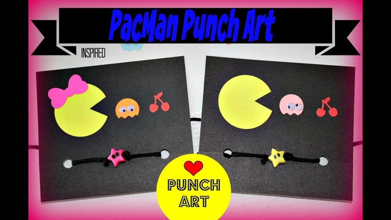 Pacman ms pacman inspired punch art for scrapbooking and paper pacman ms pacman inspired punch art for scrapbooking and paper crafts jeuxipadfo Images