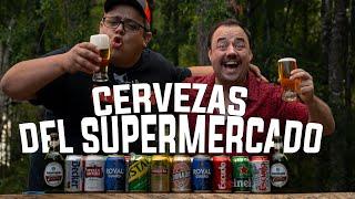 """Probando y Comparando Cervezas del Supermercado """"cata a CIEGAS"""" de dos parrilleros"""