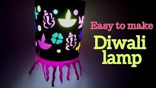 How to make paper diwali lamp | Diwali lantern making | new ideas of making colorful lantern