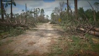 Donalsonville, Georgia hit hard by Hurricane Michael