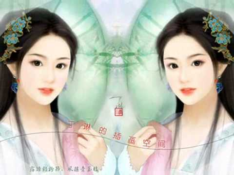 Chinese Music_渔舟唱晚 by 童丽 (Fisherman's Song At Dusk) with lyr