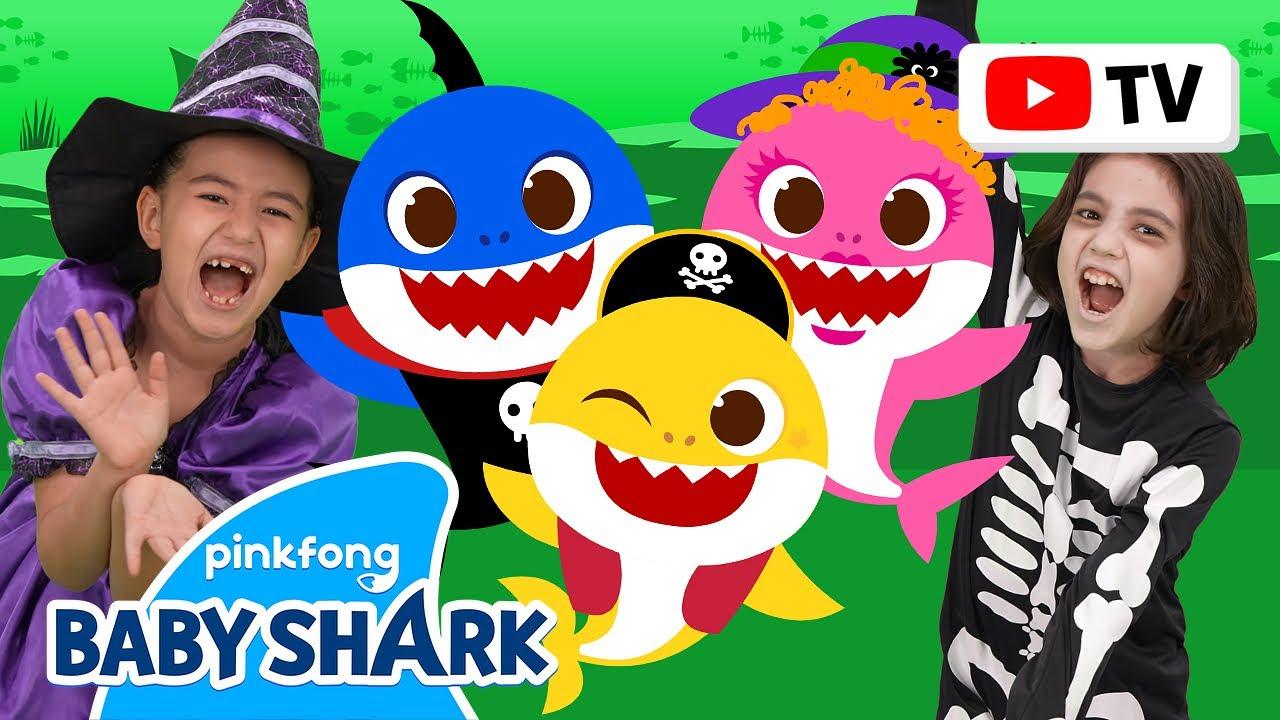 [4k] Halloween Sharks   Kids Choreography   Dance Along   Baby Shark Official
