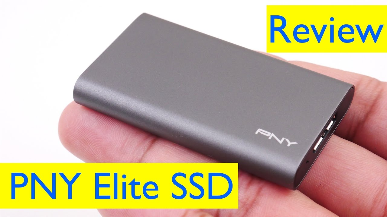 PNY Elite Portable SSD Review and Speed Test - YouTube