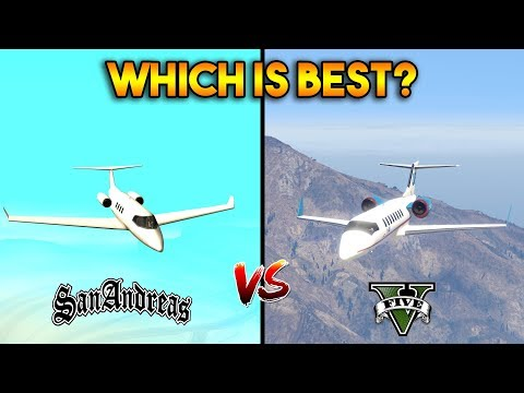 GTA 5 VS GTA SAN ANDREAS SHAMAL PLANE : WHICH IS BEST?