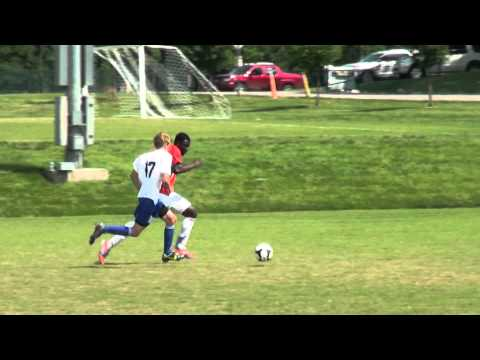 John Manga scores Javanon's 8th goal in the match with Kentucky Rush.