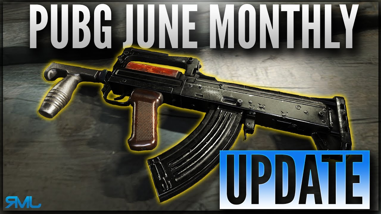 PUBG JUNE MONTHLY UPDATE NEW WEAPON GROZA AND G18 PLAYERUNKNOWNS BATTLEGROUNDS YouTube