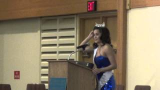 Rebecca Yeh, Miss Minnesota speaks and performs at Brainerd MN