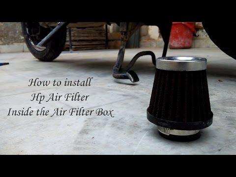 install hp air filter  honda aviator funnycattv