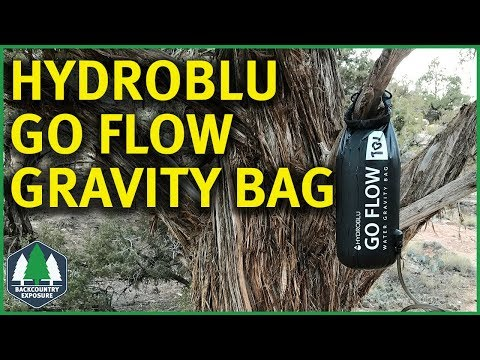 Hydroblu Go Flow Gravity Water Bag | Inline Gravity Filtration