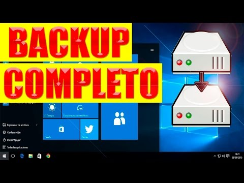 Copia de seguridad windows 10