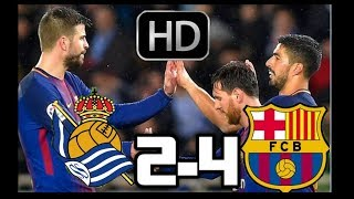 REAL SOCIEDAD VS BARCELONA 2018| RESUMEN Y GOLES HD| 14-01-2018