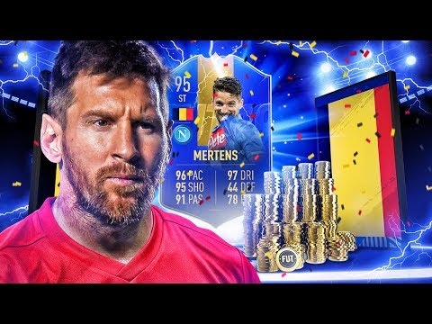 THE BELGIAN MESSI?! 95 TEAM OF THE SEASON MERTENS PLAYER REVIEW! FIFA 19 Ultimate Team