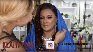 CLIENT HAIR AND MAKEUP TRANSFORMATION VLOG | INDIAN BOLLYWOOD MAKEUP |KLAIYI HAIR