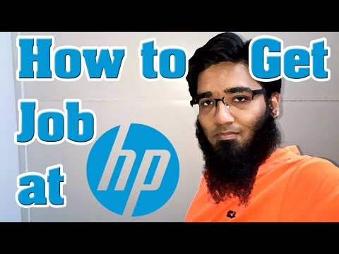 Question - How to Get a Job at HP