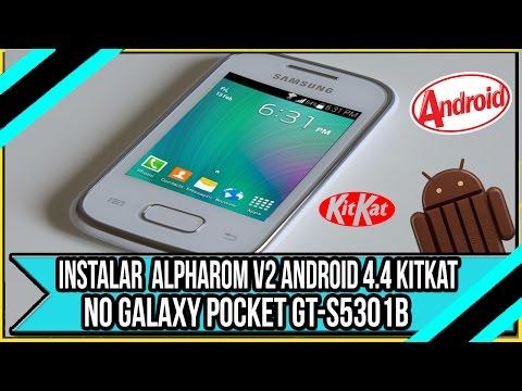 Como Instalar AlphaROM v2.0.0 Android 4.4 kitkat no Galaxy Pocket Plus GT-S5301B
