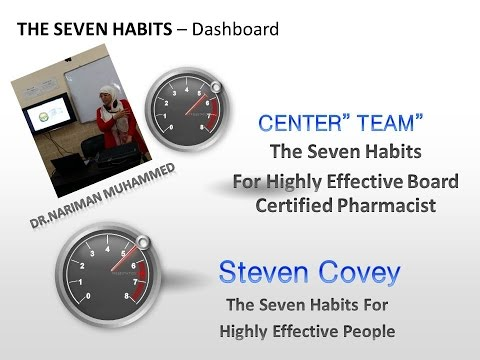 Seven habits of highly effective board certified pharmacists