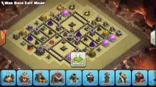 elite th9 war base anti 3 star, xbow island