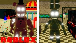 Becoming Shadow Bonnie and Shadow Freddy in Roblox Fnaf 2 The New And Improved Pizzeria