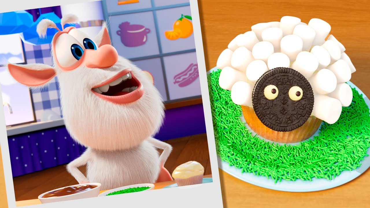Booba 🍬 Food Puzzle: Marshmallow Sheep 🐑 Funny cartoons for kids - Booba ToonsTV