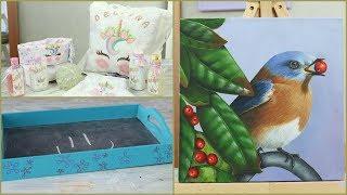 Manos a la Obra TV 2018 Programa 48 - Pintar Cuadros - Bandeja Pizarron - Almohadon Unicornio