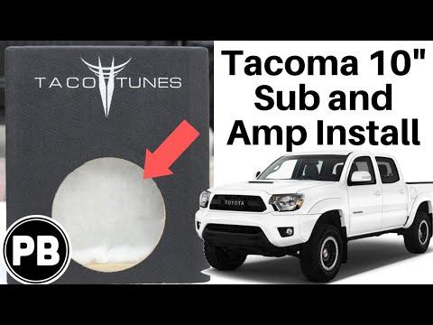 2005 - 2015 Toyota Tacoma Subwoofer Install Summary using a TacoTunes Box