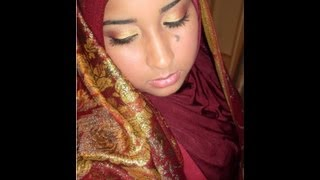 Indian/Pakistani Bridal Makeup Tutorial- Gold, Copper and Burgundy Tutorial (Re-upload) Thumbnail