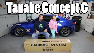 Tanabe Concept G exhaust install for 2017 BRZ