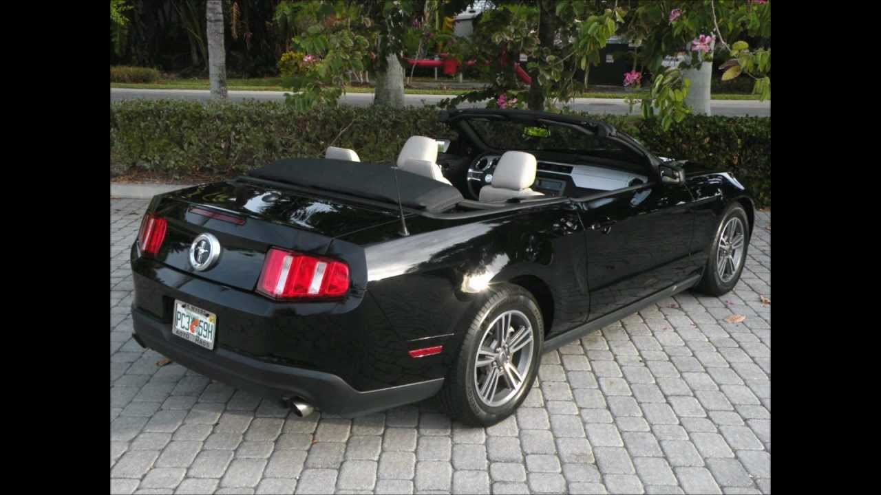 2012 ford mustang premium convertible black for sale auto haus of ft myers 33908 youtube. Black Bedroom Furniture Sets. Home Design Ideas