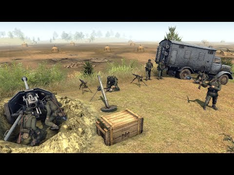 Defense Line Building Techniques & Tutorial   RobZ Realism   Men of War: Assault Squad 2 Gameplay