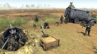 Defense Line Building Techniques & Tutorial | RobZ Realism | Men of War: Assault Squad 2 Gameplay