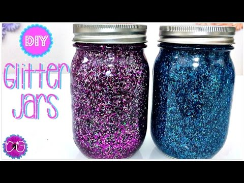 DIY GLITTER JARS!  SO PRETTY AND EASY!