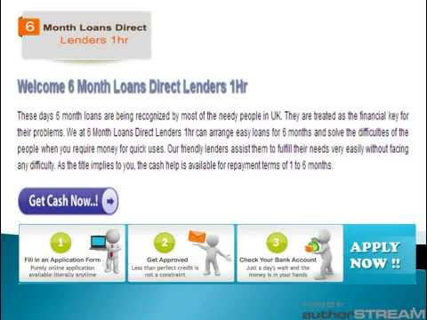 Видео 6 month payday loans direct lenders