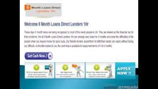 6 Month Loans UK | Payday Loans | No Credit Check Loans | Bad Credit Loans | Same Day loans 6 Months