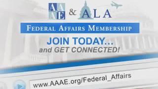 AAAE Federal Affairs Membership Promo