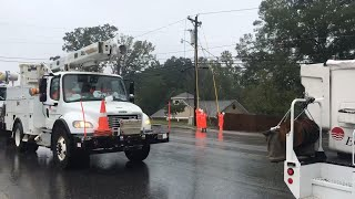 Power out for many businesses and homes in York, SC, as Florence passes through