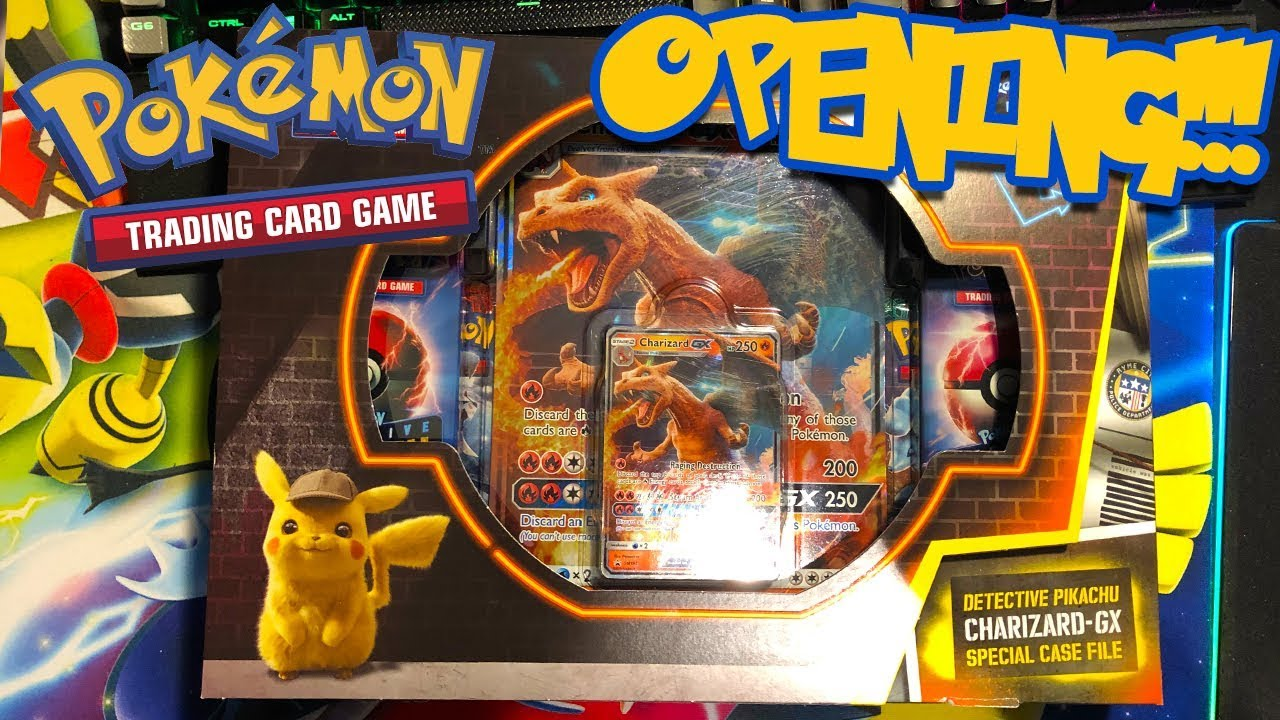New Detective Pikachu Charizard Gx Case File Opening Youtube