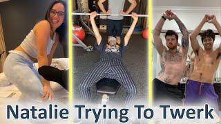 David Dobrik Training ! Natalie Trying To Twerk ! | Vlogsquad Instagram Stories