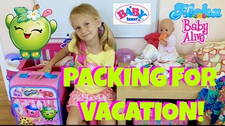 🎒Baby Born On Vacation! 🏖 Skye and Caden Get Emma Ready for a Trip 🚗