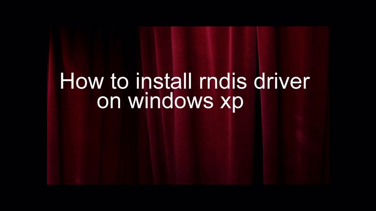 Rndis driver for windows xp sp2 download.