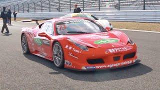 フェラーリ チェレンジ レースカーサウンド/Ferrari challenge sounds in Japan. 360, 458, 430 more!