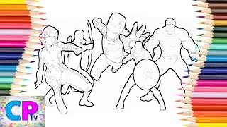 The Avengers Coloring Pages for Kids,The Avengers Coloring Pages Kids Tv,The Avengers Fun