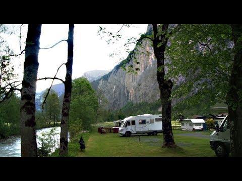 Camping Breithorn sur Lauterbrunnen en Suisse.