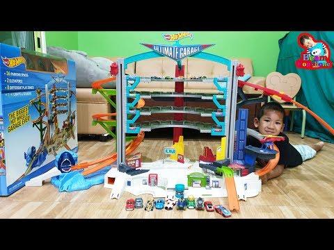 น้องบีม | รีวิวของเล่น EP168 | โรงจอดรถเหล็กฮอตวีลชุดใหญ่ Hotwheels Toys