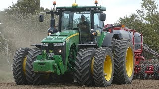 John Deere 8370R Working Hard in The Field Seeding w/ Horsch Focus 6TD | MBA Agro | DK Agriculture
